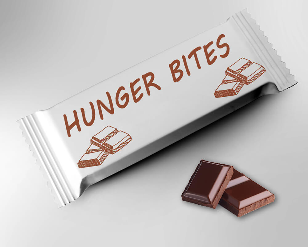 Chocolates and energy bars packaging
